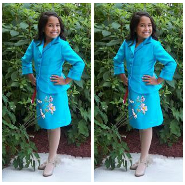Little Girls Kids Interview Suits Knee Length Interview Suits Custom ...