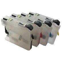 Lc663 LC665 LC669 cartucho de tinta recargable para hermano MFC-J2320 MFC-J2720 impresora con viruta auto del reajuste