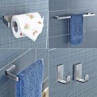 Yanjun 304 Stainless Steel Bathroom Hardware Set Brushed Holder Paper Holder Towel Bar Robe hook Bathroom Accessories YJ 81960