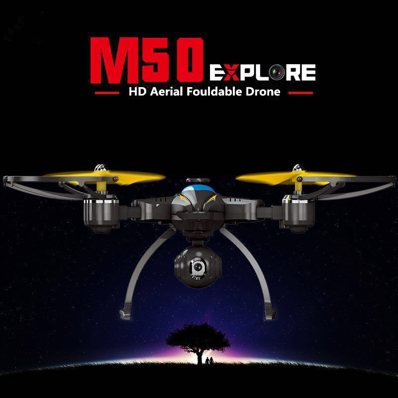 Professional foldable WIFI FPV RC Drone M50 hovering Wifi Real time Transmission font b SmartPhone b