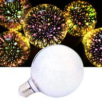 E27 G95 5W 460LM LED Bulb Filament 3D Firework Light Lamp Babysbreath Decor