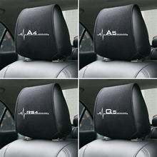 1PCS Heißer auto kopfstütze abdeckung fit für Audi A4 B5 B6 B7 B8 B9 A3 8P 8V 8L A5 A6 C6 C5 C7 4F A1 A7 A8 Q2 Q3 Q5 Q7 RS3 RS4 RS5 RS6 TT