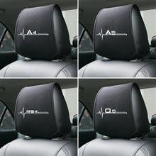1PCS Hot car poggiatesta copertura fit for Audi A4 B5 B6 B7 B8 B9 A3 8P 8V 8L A5 A6 C6 C5 C7 4F A1 A7 A8 Q2 Q3 Q5 Q7 RS3 RS4 RS5 RS6 TT