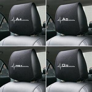 Image 1 - 1PCS Hot car poggiatesta copertura fit for Audi A4 B5 B6 B7 B8 B9 A3 8P 8V 8L A5 A6 C6 C5 C7 4F A1 A7 A8 Q2 Q3 Q5 Q7 RS3 RS4 RS5 RS6 TT
