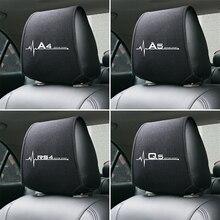 1PCS 뜨거운 자동차 headrest 커버 Audi A4 B5 B6 B7 B8 B9 A3 8P 8V 8L A5 A6 C6 C5 C7 4F A1 A7 A8 Q2 Q3 Q5 Q7 RS3 RS4 RS5 RS6 TT