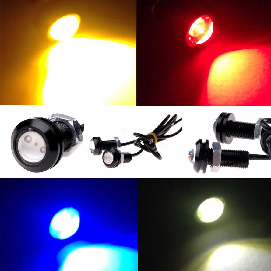 1 Uds. Impermeable ojo de águila 18mm led luz de diseño de coche luces de estacionamiento Luz de circulación diurna de trabajo DRL antiniebla fuente