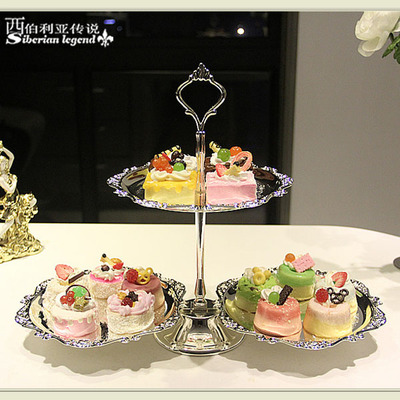 Continental Layer 2 Fruit Cake Pan Wedding Birthday Wrought Iron Sweet Afternoon Tea Snack Tray Rack In Stands From Home Garden On Aliexpress