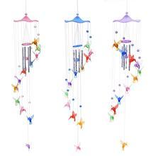 Creative Lucky Humming Bird Wind Chimes Bells Hanging Gifts Dreamcatcher Pendant Wall Home Car Decor Garden Window Decoration