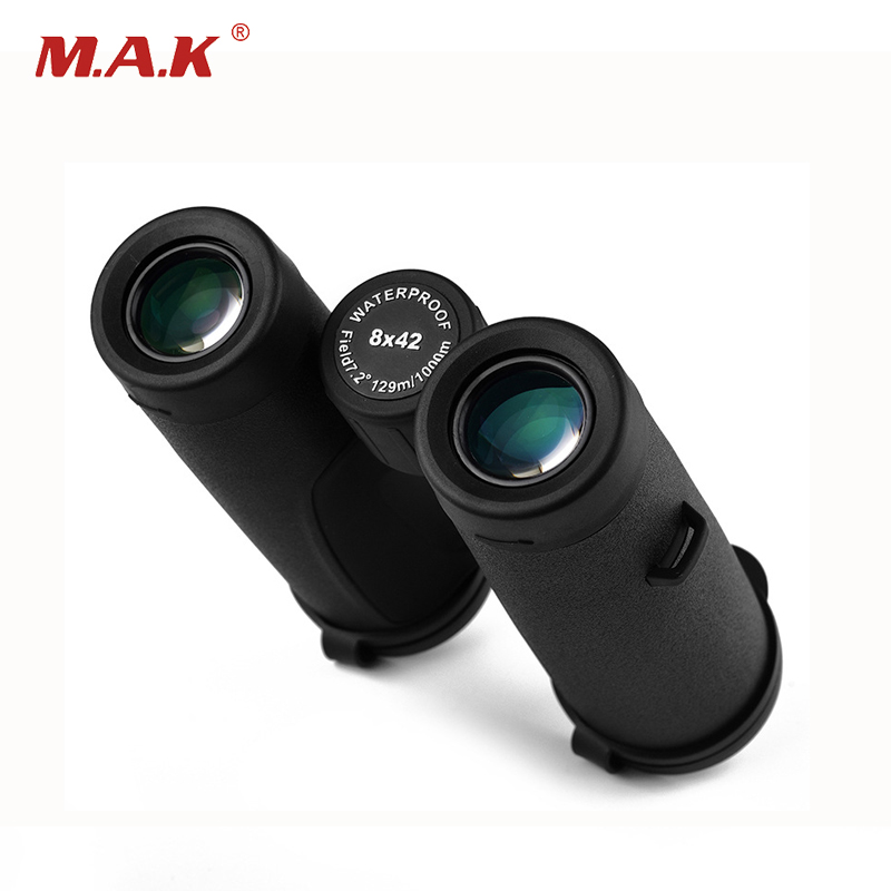 High Quality 8x42 HD Binoculars BAK4 Prism Night Vision Waterproof Binoculars Telescope for Watching Outdoor Activity 8x magnification high quality central zoom bak4 low light night vision binoculars telescope 8x42
