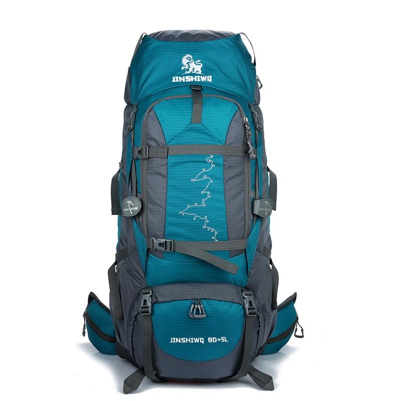 80+5L Outdoor Backpack Camping Bag Waterproof Mountaineering Hiking Backpacks Molle Sport Bag Climbing Rucksack 40l outdoor tactical backpack camping bag waterproof mountaineering hiking backpacks molle sport bag climbing rucksack