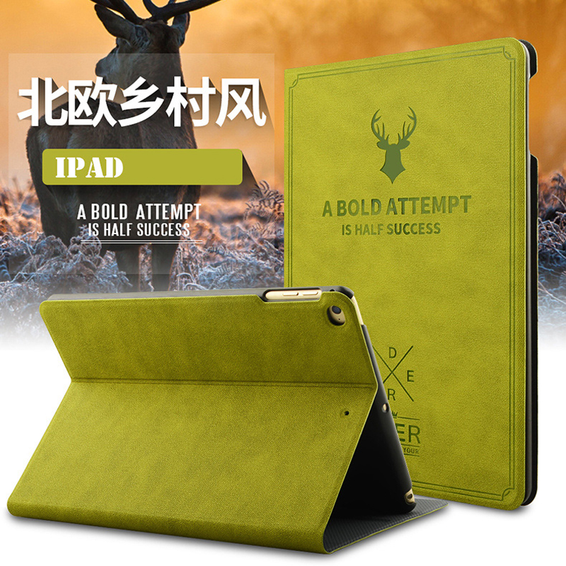 Pretty Girls Happy Life For iPad Mini 1 2 3 Tablet Smart Flip Leather Case For iPad Mini 1 2 3 Deer Stand Cover Capa Fundas
