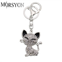 Trendy Cat Keychain Key Holder For Women Handbag Charms Car Trinket Bag Accessories Fashion Animal Key Ring YSMA0003