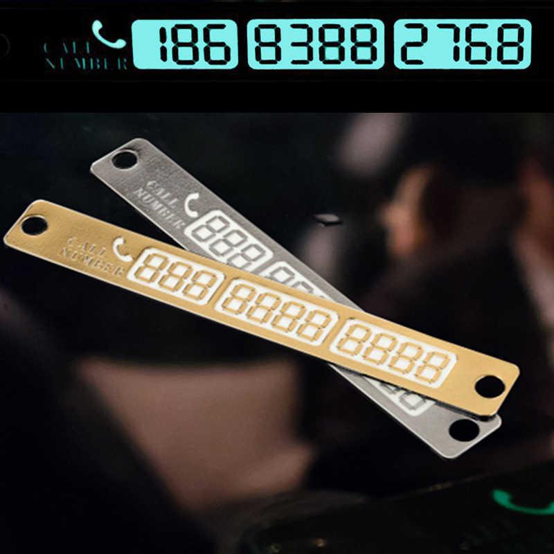 Coche Universal luminosa temporal tarjeta de estacionamiento tontos noche Placa de tarjetas de número de teléfono para coche para estacionamiento señal número de aviso #30