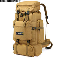 70L Large Capacity Military Backpack Waterproof Mountaineering Backpacks Male Shoulder Bag Wear resisting Travel Bag Rucksack