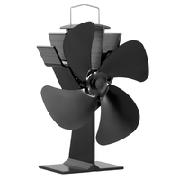 Eco Friendly 4 Blade Heat Powered Stove Wood Burning Stove Fan