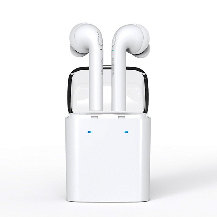 Dacom MINI Double-ear Wireless Bluetooth Headset True Wireless Technology Sport Earphone For iphone airpods 5 6 7 7s Android new dacom carkit mini bluetooth headset wireless earphone mic with usb car charger for iphone airpods android huawei smartphone