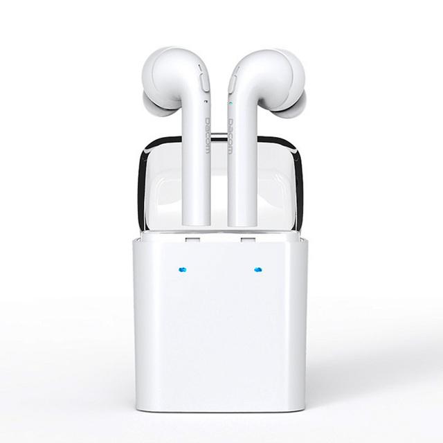 Dacom mini doble la oreja auricular inalámbrico bluetooth tecnología inalámbrica verdadera airpods auricular del deporte para el iphone 7 7 s xiaomi