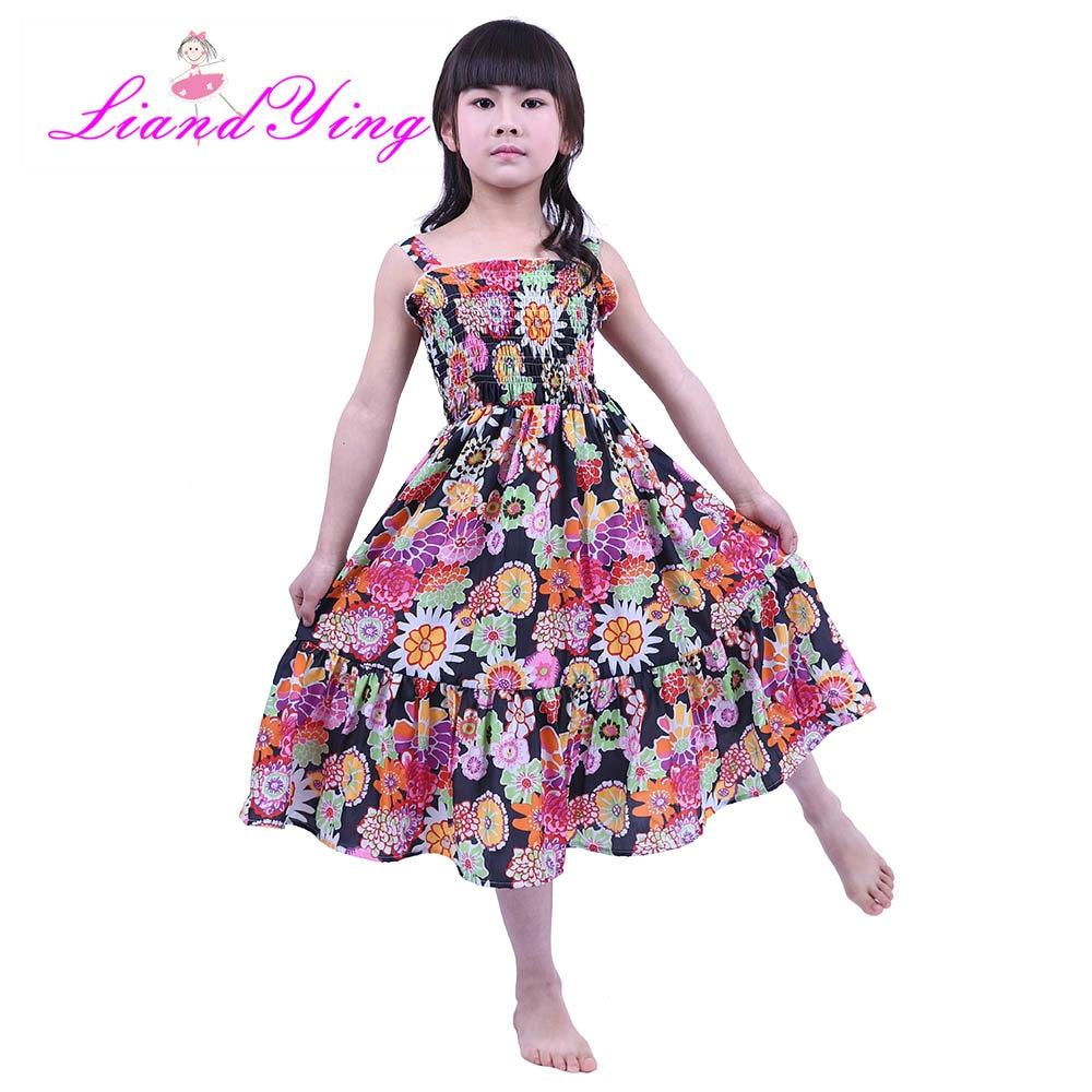 Big Girls Twirl Dress Summer Sleeveless Chiffon Kids Girls Dress Teens Girls Vestidos Floral Girl Dress 2-12 Years ...