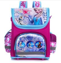 New Girls Cartoon Backpack School Bag Orthopedic Children Schoolbag Anna Elsa Backpack Mochila Infantil недорого