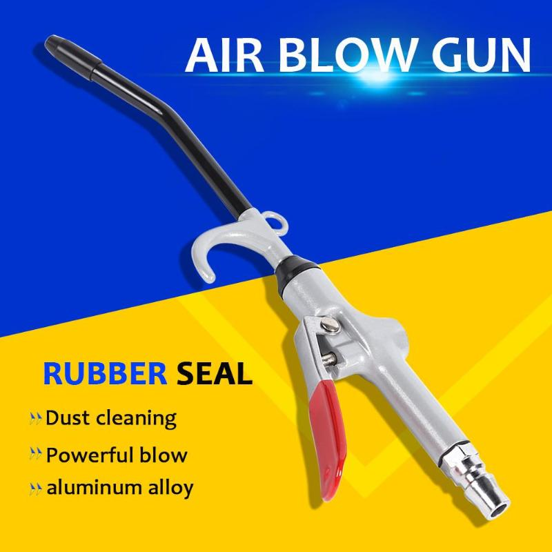 Aluminum Alloy Handle Angled Bent Nozzle Air Blow Gun Pneumatic Dust Blowing Gun Stainless Steel Plus Rubber Wind Rod Wear(China)