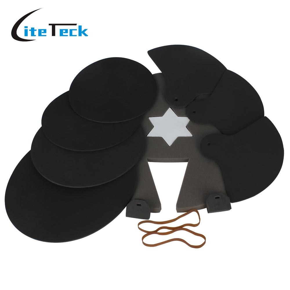 8 piece drum set silencer practice pads mute with cymbal mutes high quality percussion. Black Bedroom Furniture Sets. Home Design Ideas