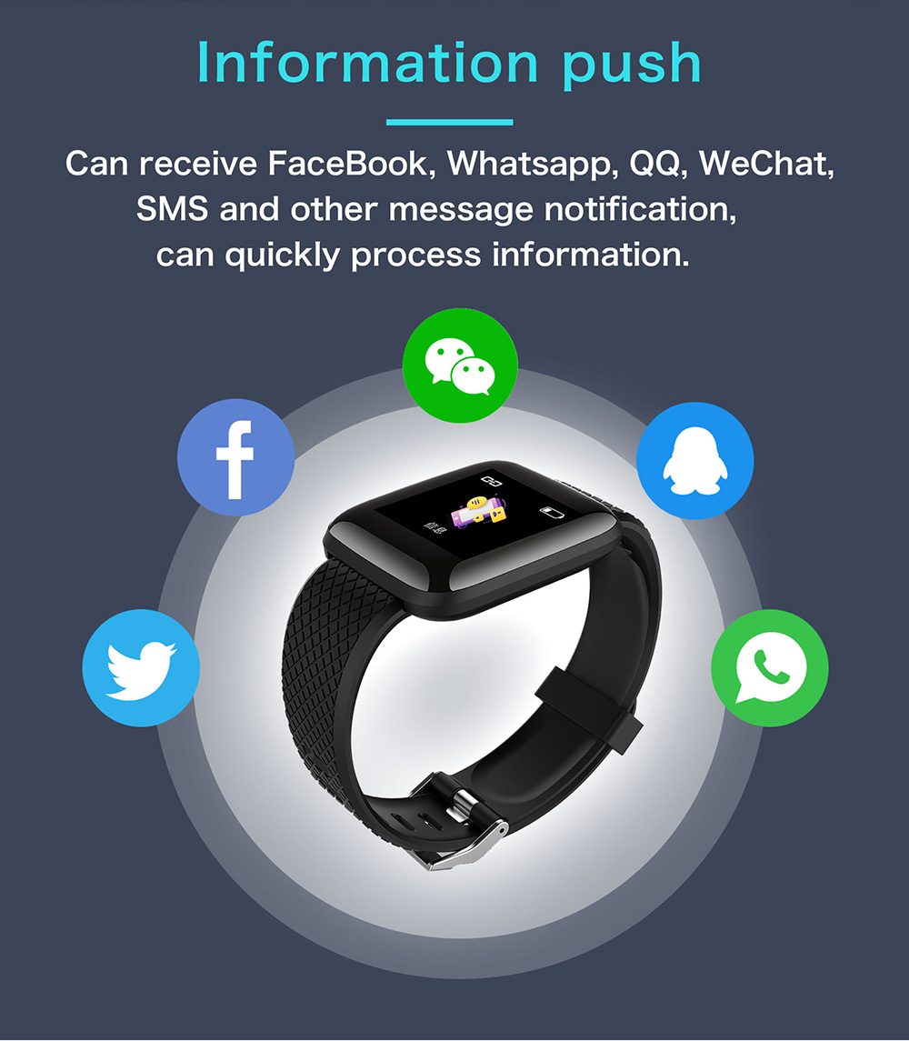 116plus Smart Watch Bluetooth Pedometer Multifunction USB Direct Charge Sports Bracelet