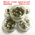 Wholesale 20PCS/set high quality watch parts watch head watch crown waterproof stainless steel watch crown 6mm*6mm