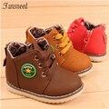 2016 llegaban nuevos niños de la moda masculina niño zapatos de algodón acolchado zapatos del niño del cordón del bebé de la manera caliente venta tamaño 21-30