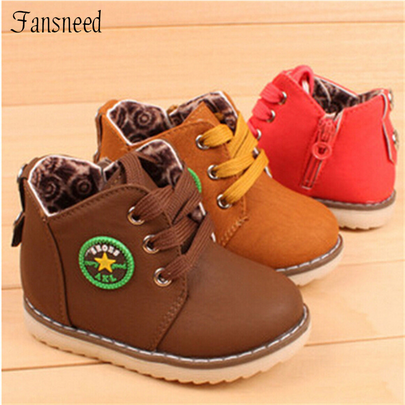 2017 new arrived children fashion male child toddler shoes lacing baby fashion shoes cotton-padded hot selling size 21-30