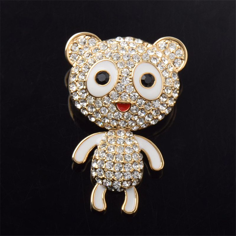 Home & Garden Ranton 2018 Fashion 1 Pc Diamond Monkey Alloy Badges Funny Style High Quality Crystal Pin Brooch For Suit Clothes And Bags Apparel Sewing & Fabric