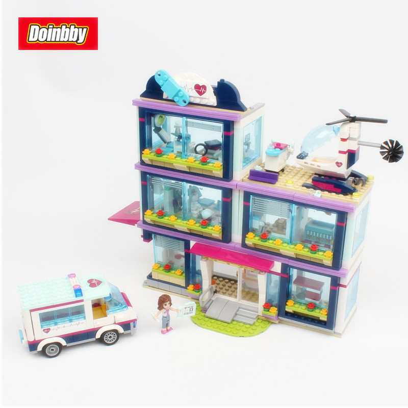 Lepin 01039 Heartlake Hospital Friends Girl Building Blocks Toys kids Bricks Toy Girl Gifts Compatible 41318 lepin 01039 friends girl series building blocks toys heartlake hospital kids bricks toy girl gifts compatible with legoing 41318