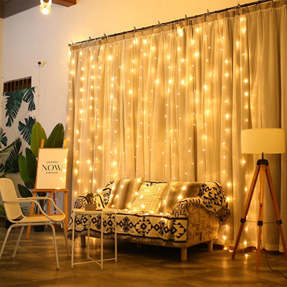 Luces Led Decoracion Lights Fairy Lights Holiday Light Romantic String Lights Christmas Wedding Holiday 3x3/2x2/6x3/3x2 Meter