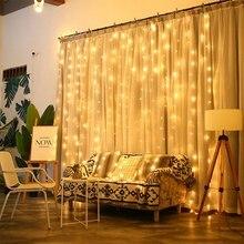 led Luces Decoracion Lights Fairy Holiday Light Romantic String Christmas Wedding 3x3/2x2/6x3/3x2 Meter