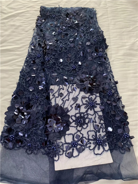 Latest African Laces Fabrics Embroidered High Quality French Lace beads Fabric Nigerian Net tulle Lace Fabric