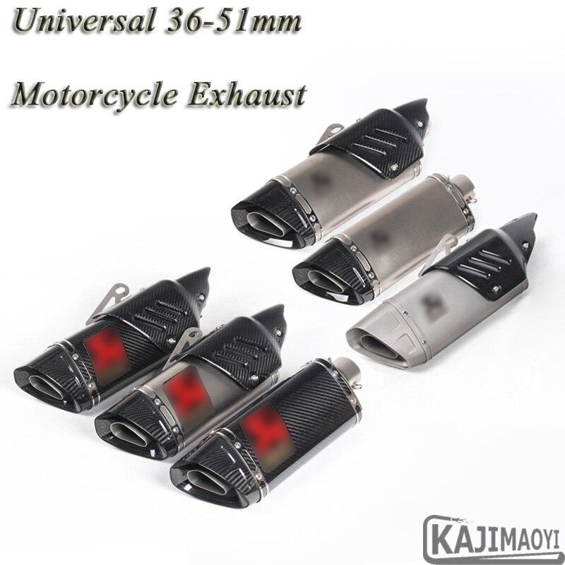 Moto Échappement Modifié Uiversal 51mm Moto Laser Scooter Silencieux En Fiber De Carbone Autocollant Pour Yamaha R1 R6 ZX-6R ATV R3 K7
