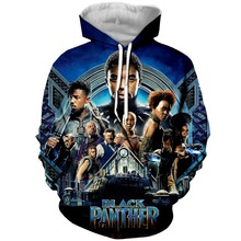 цена PLstar Cosmos Classic Hot Movie Black Panther 3D Hoodies Animal Panther Print Hooded Sweatshirt Men Women Hoodie Pullover онлайн в 2017 году