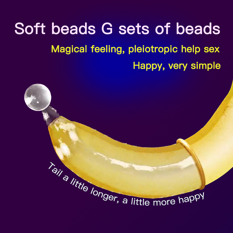 OLO Bead Condom 1PCS Ultra Thin Penis Enlargement Intimate Good Sex Products Natural Rubber Latex Penis Sleeve Sex for Men cock in Condoms from Beauty Health