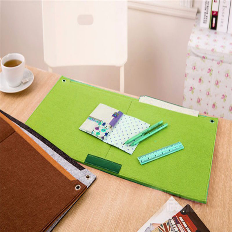 2017 New Felt Sleeve Laptop Desk Mat Fashion Durable Modern Table Felt Office Desk Mat Mouse Pad Pen Holder
