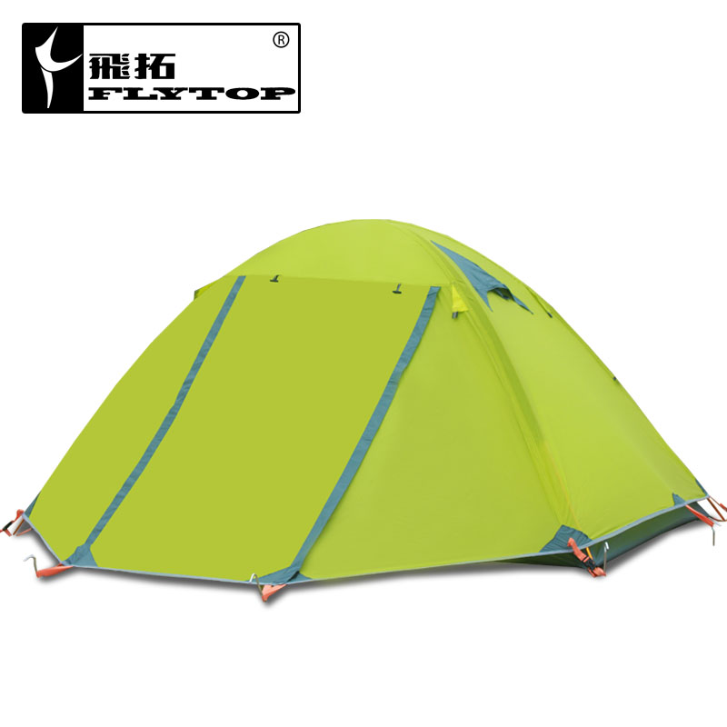 Flytop double layer 2-3person aluminum rod outdoor camping tent Topwind 2 without snow skirt have 3colors for choose family tent image