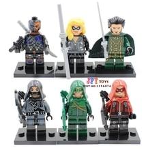 60pcs starwars super heroes marvel Ra's Al Ghul Red Dark Archer Deathstroke building blocks bricks hobby toys for kids speelgoed