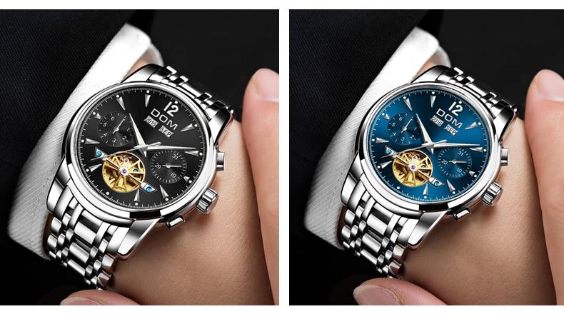 completo-aço relógio montre homme M-75BK-1MW