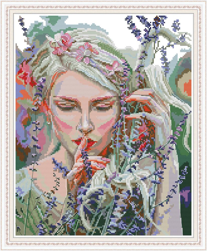 Listen To The Quiet Cross Stitch Kit Aida 14ct 11ct Count Print Canvas Cross Stitches   Needlework Embroidery DIY Handmade