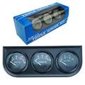 Universal 52MM 3 In 1 Oil temp meter+water temp gauge+Oil Pressure Gauge Kit car meter/auto Gauge/Triple tachometer/Triple Gauge