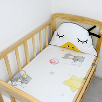 Baby Sheet Baby Bedding Sets For Newborns Cartoon Printed Soft 100% Cotton Fitted Sheet Swaddle Sack Cot Cover Baby Bed Sheet