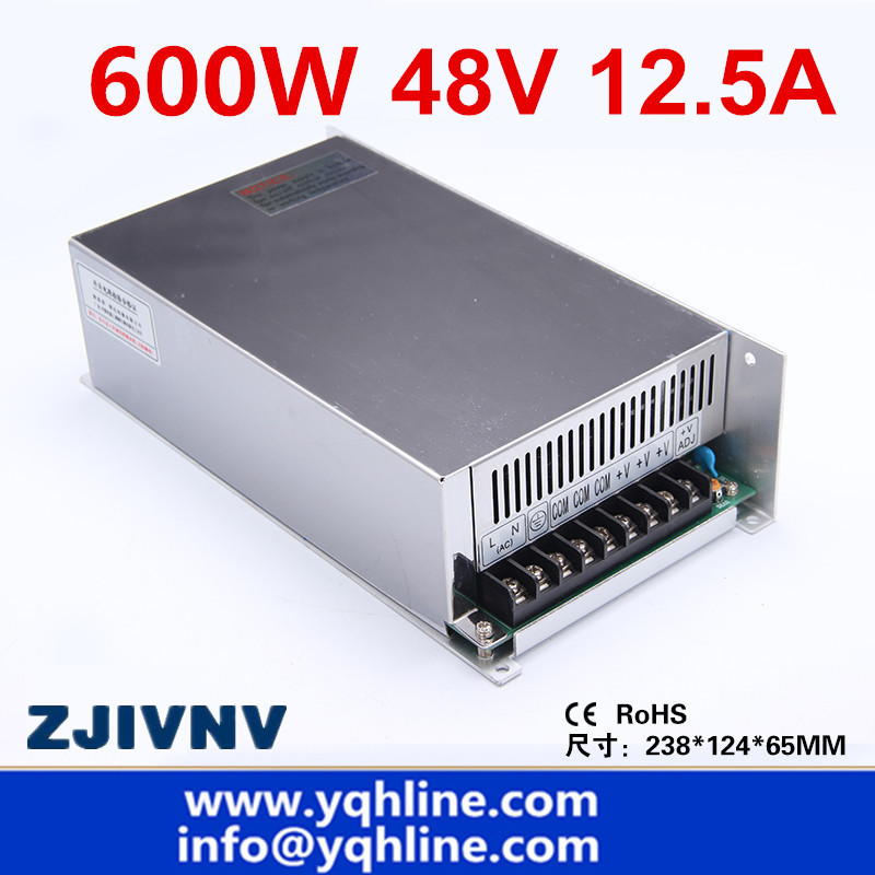 цена на (S-600-48) CE approved high quality SMPS Led switching power supply 48V 12.5A 600W input 110/220Vac to dc 48v free shipping