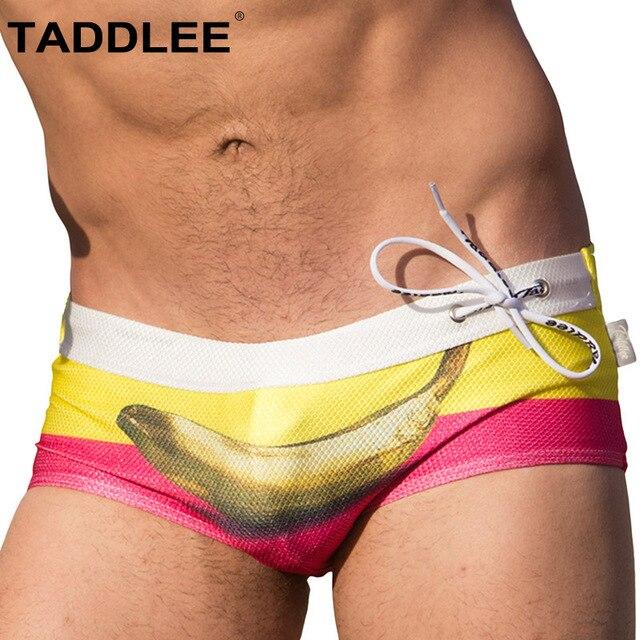 6df2c6d080667 Taddlee Brand Sexy Men Swimwear Swimsuits Swim Boxer Briefs Bikini Men's  Board Surf Trunks Shorts Gay Penis Pouch WJ Pad Insert