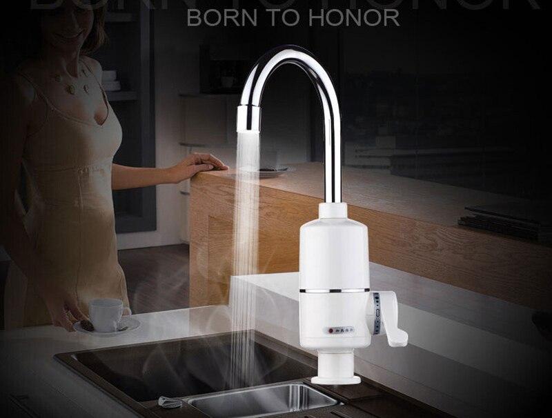 Cuisine instantanée chauffe-eau sans réservoir électrique robinet d'eau chauffe-eau instantané chaud et froid double usage 2000 w 3000 w - 4
