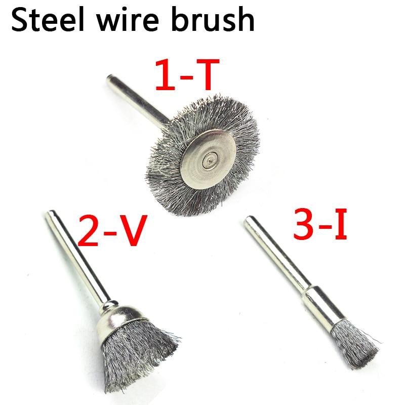 10ks mini rotační z nerezavějící oceli dráty kartáče malé - Brusné nástroje - Fotografie 2