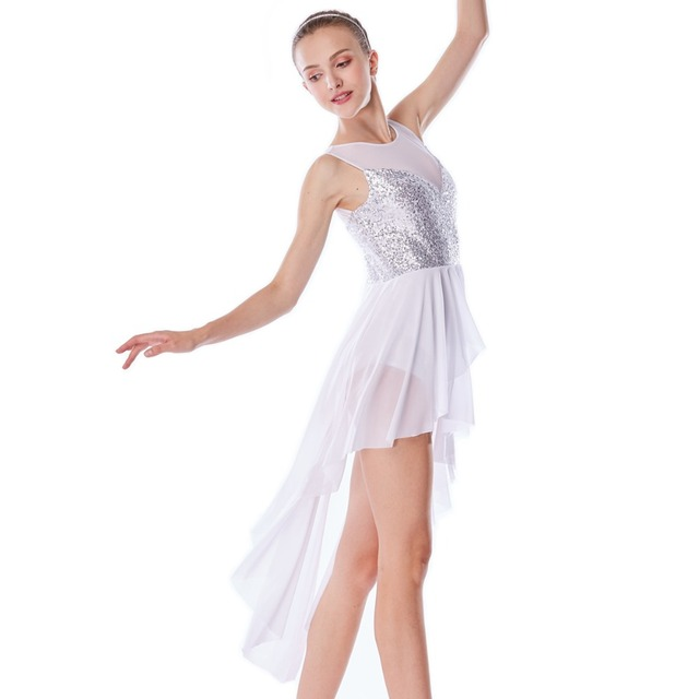 b5bc0f81f MiDee Lyrical Dance Costume Dresses Ice Skating Performance Competition Contemporary  Dress Stage Wear