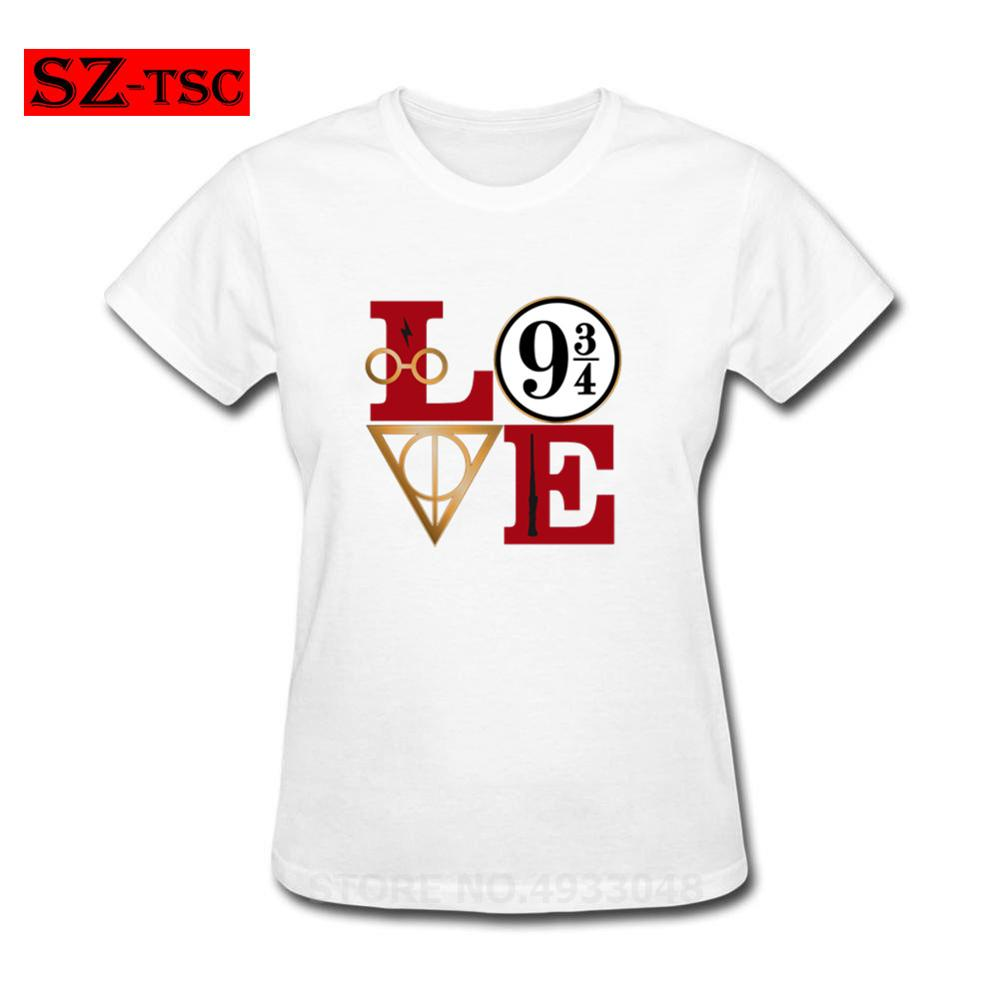 Harry LOVE Potter T Shirts THE END IS NEAR T-Shirt Women Short Sleeves Printed Tee Shirt 100% Cotton Awesome Femme Summer Tshirt
